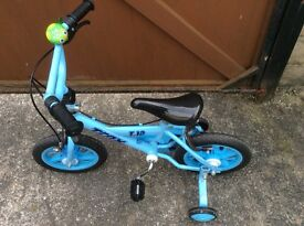 Boys Bike with stabilisers - for 3-5yrs approx