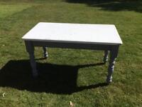 Farmhouse solid painted kitchen table
