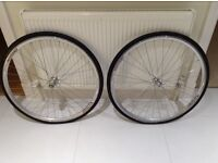 Wheels: pair of 700c Alex Rims AT470 32H on Formula hubs
