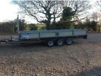 Ifor Williams tri axle 16ft, trailer tractor