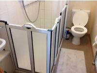 Walk / disabled type shower cubicle complete