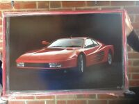 READY TO HANG FERRARI TESTEROSSA POSTER PICTURE
