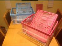 Folding storage boxes x 4