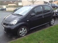 Toyota Aygo 1.0 Litre Petrol In Black 2009 Plate 78k Miles Full Toyota Service History