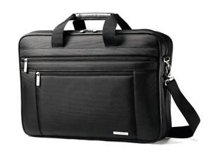 "NEW Samsonite Classic Business Two-Gusset Briefcase (17""), Black"