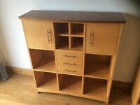 3 living room / dining room / kitchen storage units / sideboard / bookcase / display cabinet