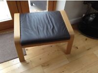 IKEA leather POANG foot stool
