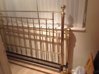 Lovely Brass Bed Frame With Base (No Mattress)