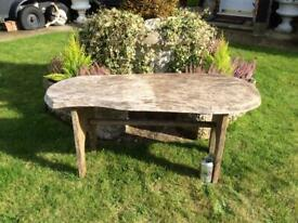 Fabulous Bespoke Rustic Vintage Garden Oak Table, £45 🚚 Delivered Free Locally