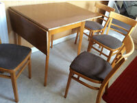 Drop Leaf Kitchen Table & 4 Chairs + Solid + Priced to Sell Quick +