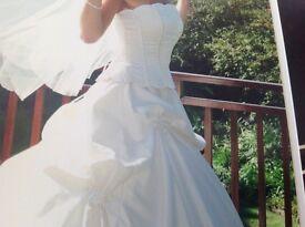 Lamore satin Ivory wedding dress