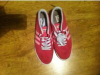Adidas Size 5 NEC Pink Trainers In Really Good Condition.
