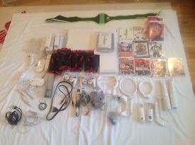 Wii bundle all controls 10 games Wii Fit, Zumba Balance board All cables All in good working order
