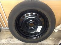 Spare wheel, new, with Passable tyre.