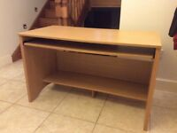 Beech effect desk in very good condition.