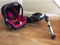 Maxi-Cosi Cabriofix car seat & EasyBase 2 (non-isofix)- both in Very Good condition