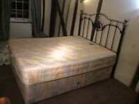 King Size Bed with Cast Iron Headboard