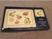 Placemats and coasters, new