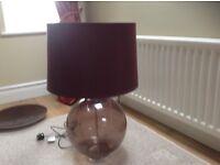 Brown glass lamp