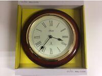 Acctim 74546 Thetford Radio Controlled Wall Clock Dark Wood New