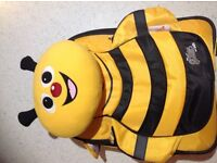 Bumble bee pull along suitcase from The Cuties and Pals collection. As new condition as rarely used.