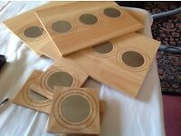 NEXT table mats solid wood and mug coasters brand new £8& NEXT picture frame £8