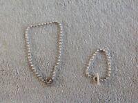 Gucci Boule Silver Necklace & Bracelet Set - Good Used Condition
