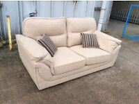 2 Seat cream Fabric Eden Sofa - Ex Display - £199 Including Free Local Delivery (RRP - £319.99)
