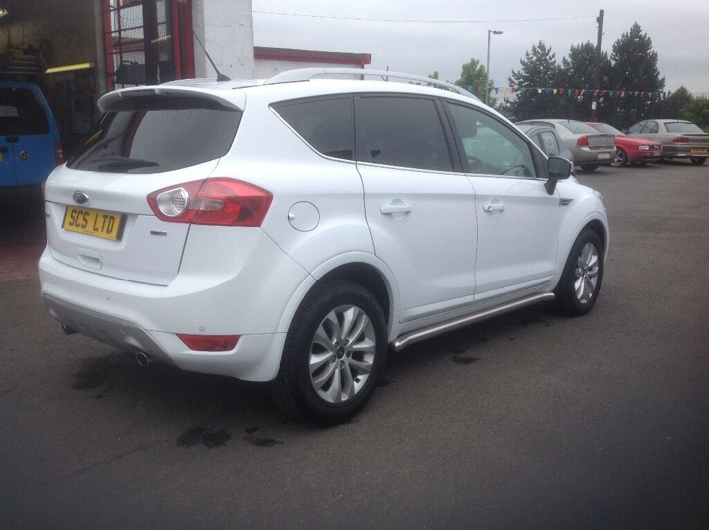 ford kuga titanium 2 0 tdci diesel 47000 miles 2011 fsh mot march 2017 white in springburn. Black Bedroom Furniture Sets. Home Design Ideas
