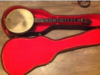 Vintage banjo can't see name ,good condition ,