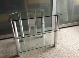 John Lewis Glass TV/Video/DVD Stand