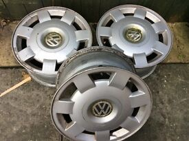 3 VW wheels in good condition.