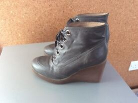 Unisa grey leather ankle boots