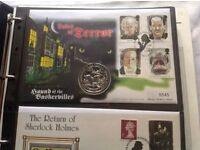 LIMITED EDITION COLLECTION OF SHERLOCK HOLMES COMMEMORATIVE COINS