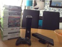 Xbox 360 with Kinect and over 20 games