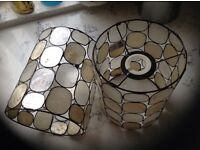 2 x John Lewis Capiz Oyster Shell Lamp Shades | 40w max | Ceiling or Table Lamp
