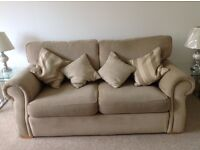 Large 2 seater sofa, beige, good condition