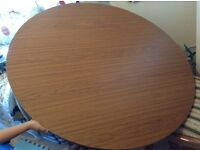 wooden round foldable dining table