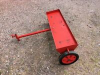 Lawn aerator for ride on mower