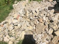 Rubble for hardcore,broken up from shed base 10ftx8ft
