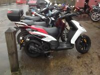 Aprilia Sr 125 Maotard cat b needs re framing or selling for parts.. selling whole scooter