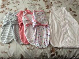 5 baby Swaddle Bags and sleeping bag