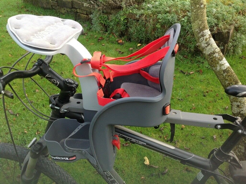 Wee ride safe front bike seat for toddlers