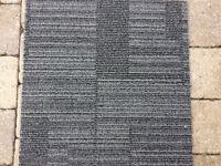 Carpet Tiles Grey Black Heavy Duty