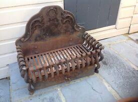 Very heavy cast iron fire basket