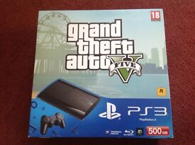 PS3 500gb with Grand Theft Auto BRAND NEW unopened