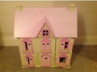 Children's Dolls house and furniture