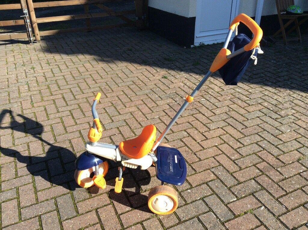 Super Trike, orange and navy, excellent condition