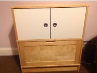 Ikea effectiv storage unit in excellent condition. Colour light beech