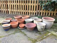 Assortment of Patio Pots